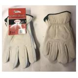 Leather gloves-med