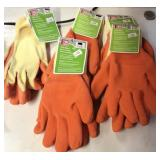 Latex knit gloves-adult