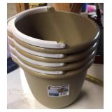10 Qt. Buckets brown