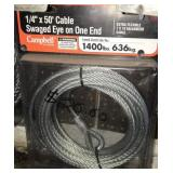 1/4in x 50ft cable