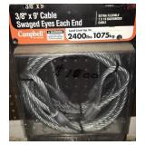 3/8in x 9ft cable