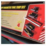 Magnetic tool tray set