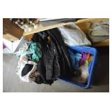 contents of shelf clothing, totes ++