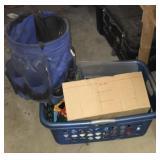 Bucket organizer box lot