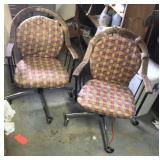 Padded rolling chairs