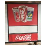 Coke menu sign