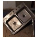 Stainless double bowl sink