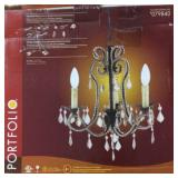 Portfolio 3 light chandelier -new in box