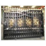 20ft bi-parting wrought iron driveway gate