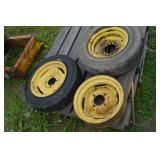 JD implement rims & tires