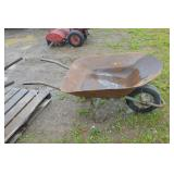 steel handld wheel barrow