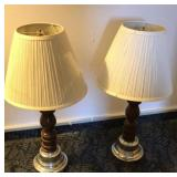 "Table lamps with 12"" shades"