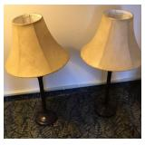"Table lamps with 14"" shades"
