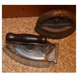 Old clothes irons