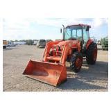 Kubota M7040 4x4 Cab Tractor w/ LA1153 Loader