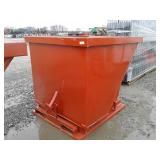 2 Cubic Yard Skid Steer Self Dumping Hopper