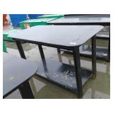 "30"" x 57"" Steel Black Welding Shop Table w/ Shelf"