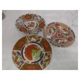 "7.5"" Decorative Plates - Set Of 3 Gryphonware"