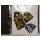 Police, Fire Fighter, Ambulance Badges In Binder