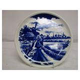 Boch Made In Belgium Blue & White Windmill Plate