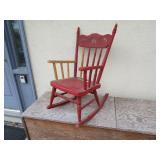 """17 x 22 x 29"""" Wooden Rocking Chair"""