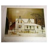 Winter Sun A.J Casson Artists Print # 3/60 Unframd