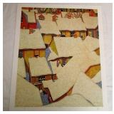 Roof Tops A.J Casson Print # 262/300 Unframed
