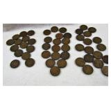 1942 pennies X 48 many that are VF 20 +