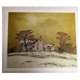Farm House A.J Casson Print # 246/300 Unframed