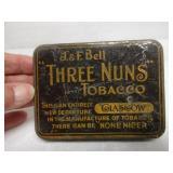 Vintage Tobacco Tin J&F Bell Three Nuns Glasgow