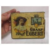 Vintage Graaf Egbert  Flat Cigarette Tin