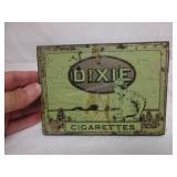 Vintage Dixie Flat Cigarette Tin