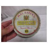 Vintage Mac Barens Virginia Smoking Tobacco Tin