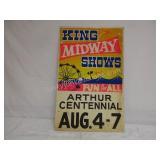 Vintage King Midway Shows  22 x 14""