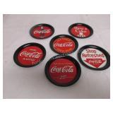 Lot of 6 Coca Cola Coaster SET