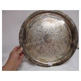 "Silverplate Tray Made in Canada 14"" across"