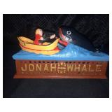 Jonah & The Whale Cast Iron Bank Very Good