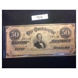 Fifty Dola Licoln Decorative Bill