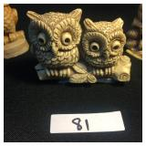 Three miniature Stone Owls