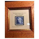 Framed Eleanor Roosevelt Quoted Stamp