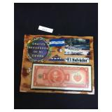 Wooden Handmade Decor of Salvadorian Currency