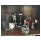Lot incl Dresser Box, Figurines/Statues, etc...