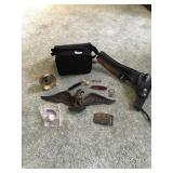 Lot Including Pocket Knives, Belt Buckle, Eagle,