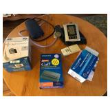 Lot with Blood Pressure Monitor, Stethoscope,