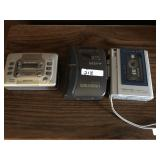 (3) Cassette Players, Sony Walkman etc...