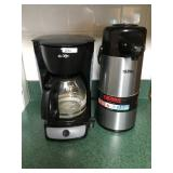 Mr. Coffee Machine + Lrg Thermos Dispenser
