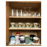 Lrg Lot Incl. Fruit Decorated Mugs, Glassware,
