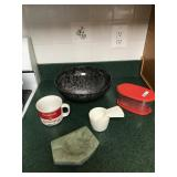 Plastic Salad Bowl, Soup Cup, Measures, etc...