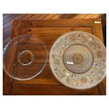 (2) Lrg Serving Platters incl Fancy Patterned