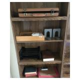 Lot Including Dove-Tailed Wooden File Tray,